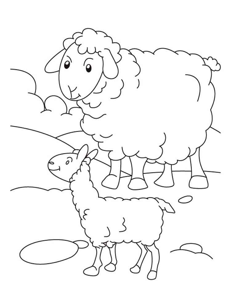 Lamb Coloring Pages Download And Print Lamb Coloring Pages