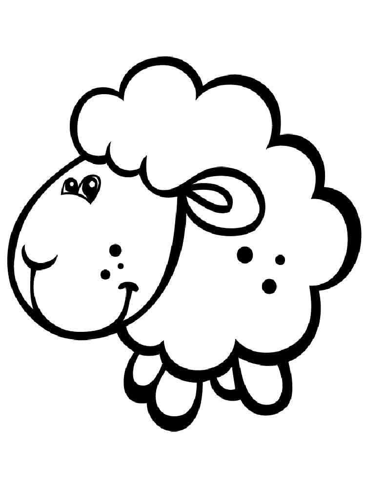 coloring pages of a lamb - photo#41