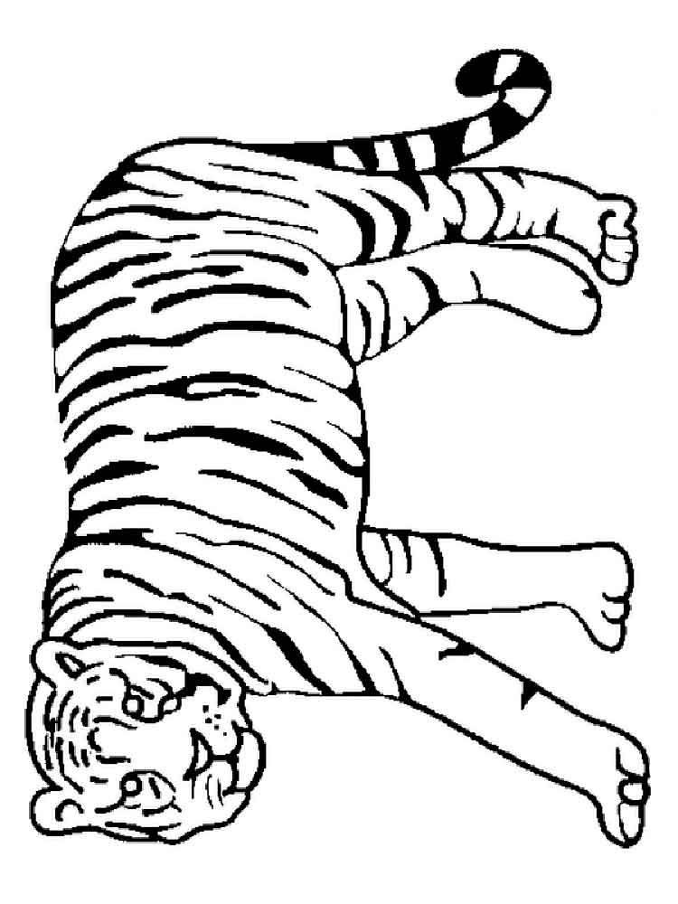 Tigers coloring pages. Download and print tigers coloring ...