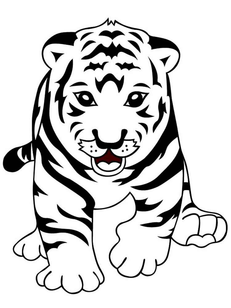 Tigers coloring pages Download