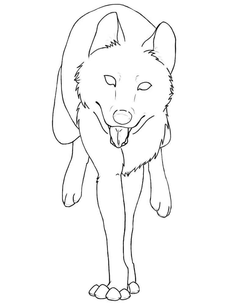 Wolf coloring pages Download and