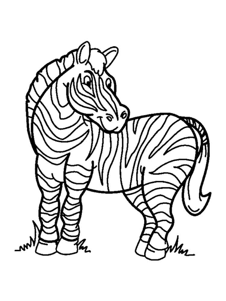 Zebra coloring pages Download