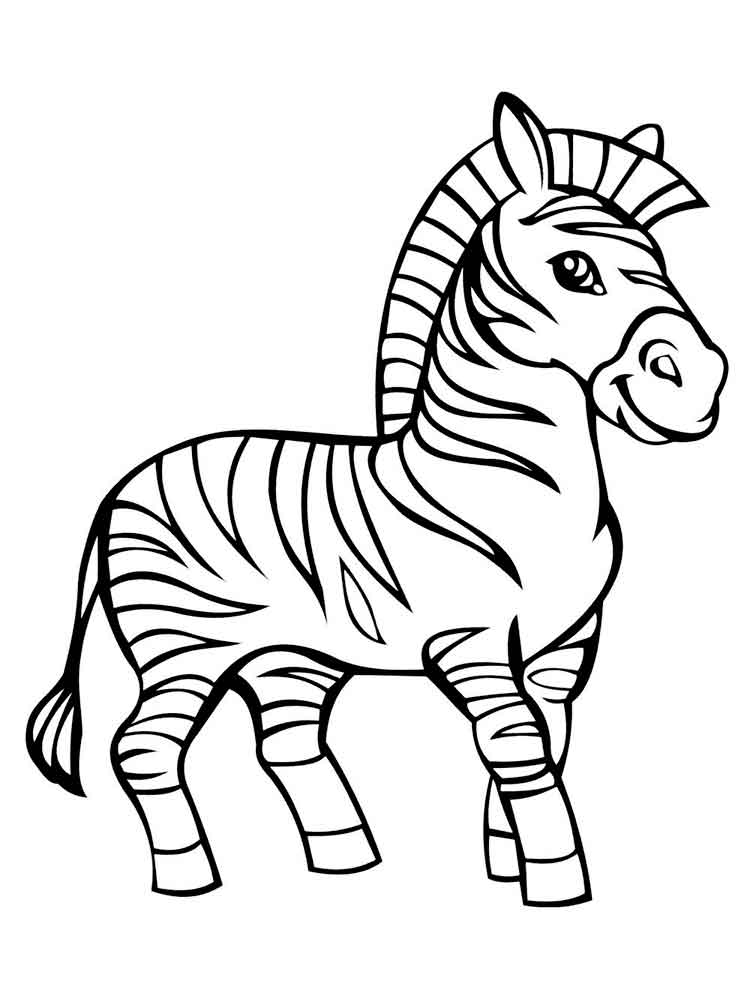 coloring pages animals zebra 5 - Zebra Coloring Pages