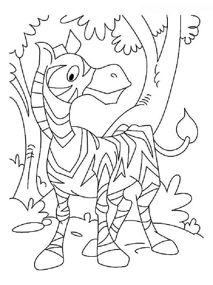 Zebra Coloring Pages Download And Print Zebra Coloring Pages