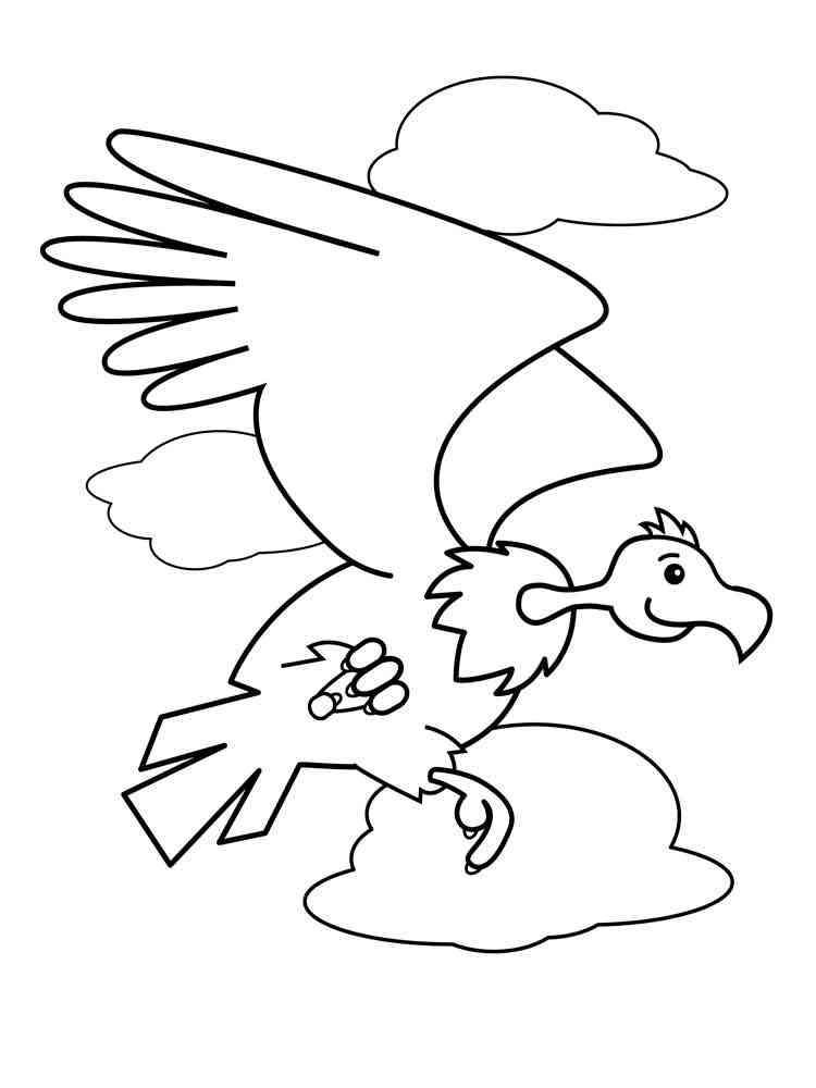 Condor Coloring Pages Download And Print Condor Coloring