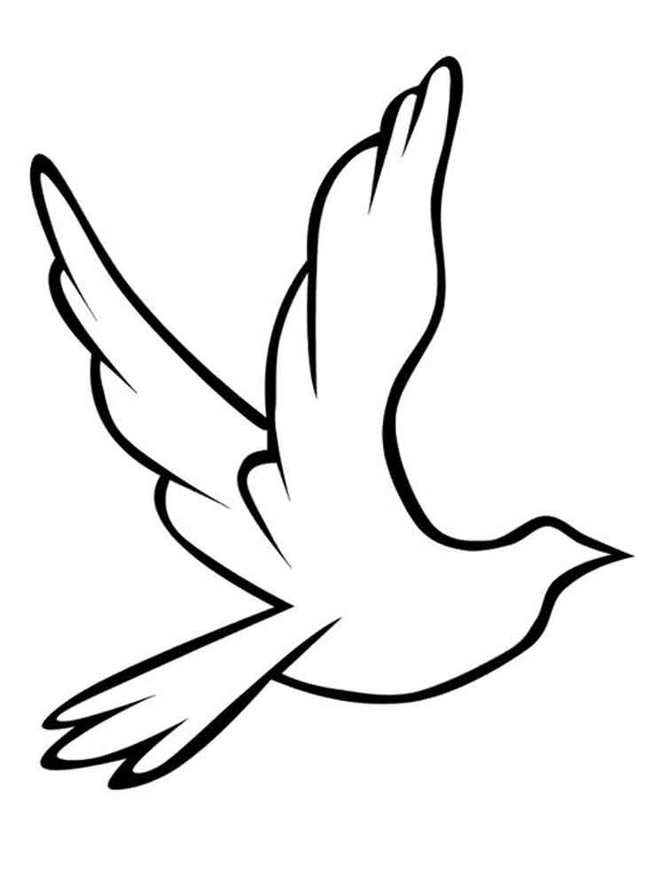 This is a photo of Dynamic Dove Coloring Pages