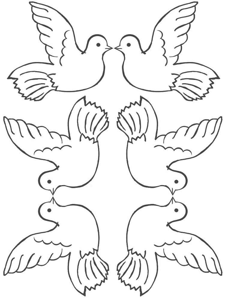 It is an image of Smart Dove Coloring Pages