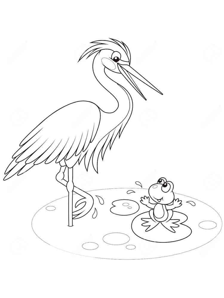 Egrets coloring pages Download and print Egrets coloring