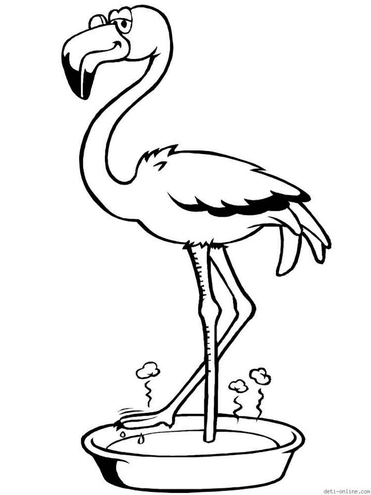 Flamingo coloring pages Download