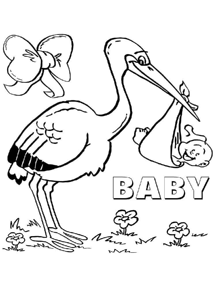 Bird Coloring Pages Of The Stork Coloring Coloring Pages