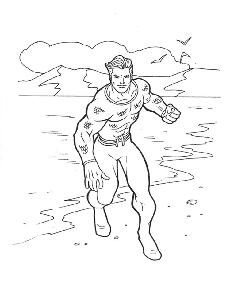 Aquaman Coloring Pages Download And Print Aquaman