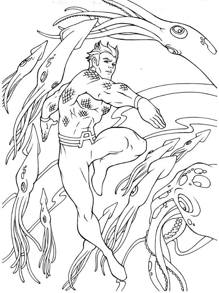 Aquaman coloring pages. Download and print Aquaman ...