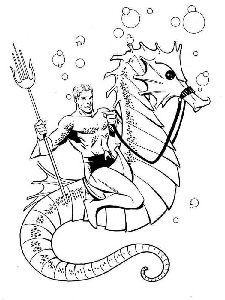 aquaman symbol coloring pages - photo#5