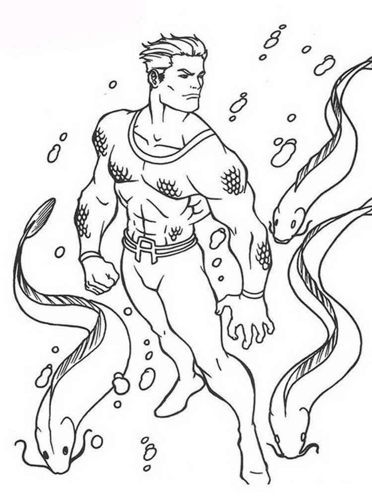 aquaman symbol coloring pages - photo#6