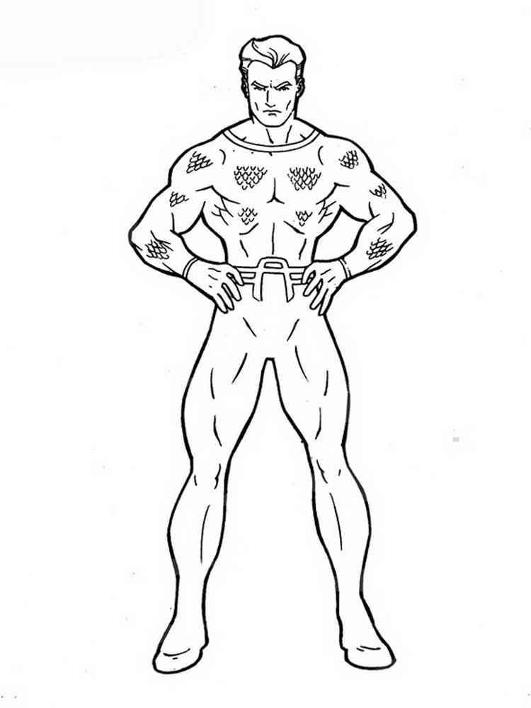 aquaman symbol coloring pages - photo#13