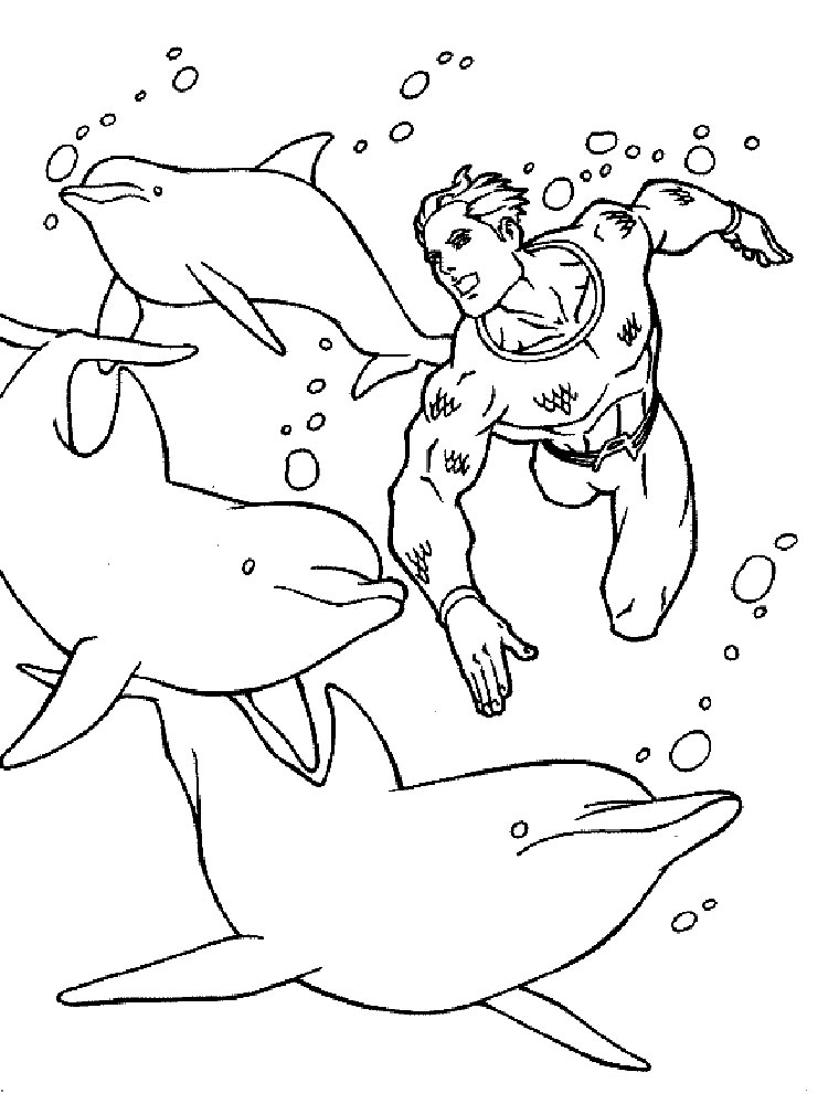 Aquaman Coloring Pages Download And Print Aquaman