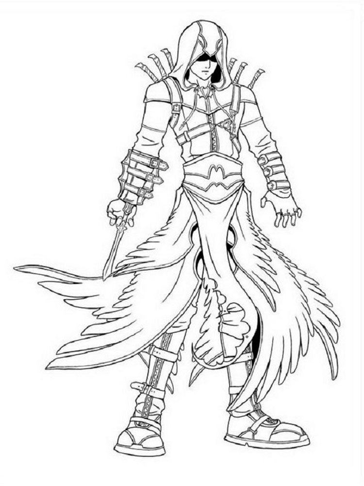 Free Assassin Coloring Pages Download And Print Assassin Coloring Pages
