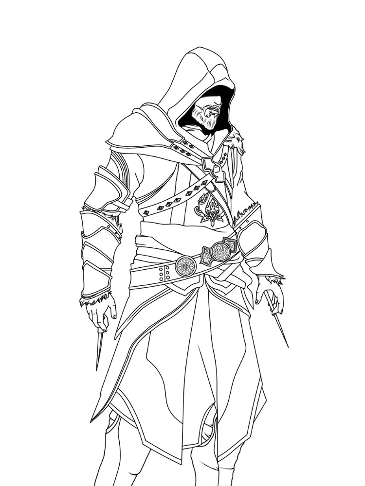 Free Assassin coloring pages. Download and print Assassin ...