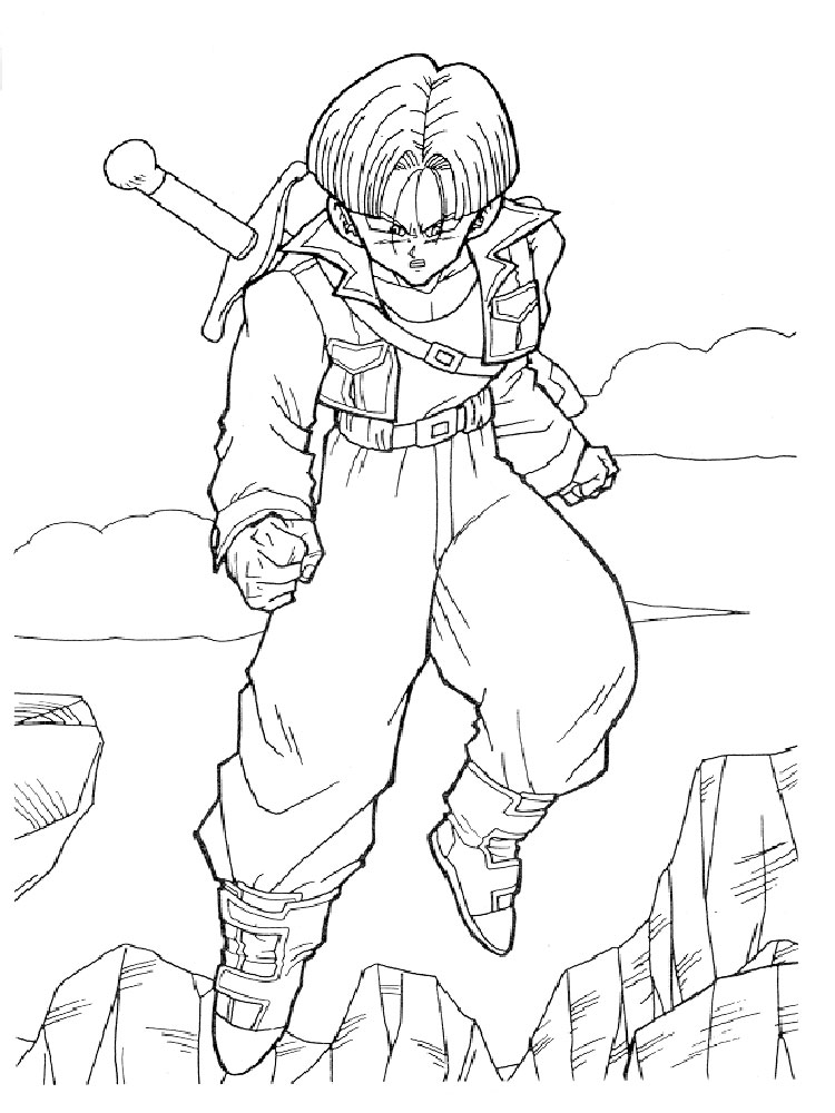 Dragon Ball Z Coloring Pages Download And Print Dragon Ball Z Z Color Pages
