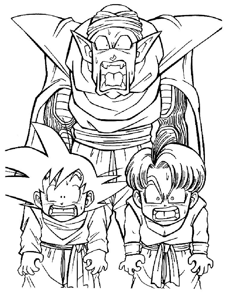 Dragon Ball Z Coloring Pages Download And Print Dragon