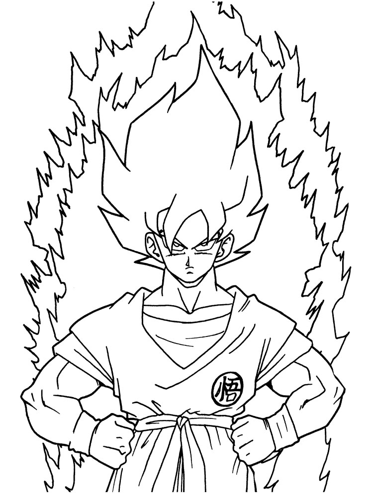 Top 20 Free Printable Dragon Ball Z Coloring Pages Online | 1000x750