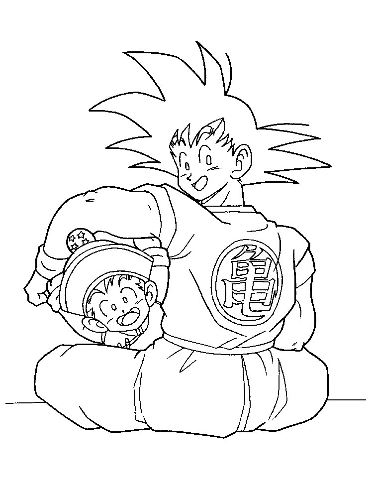 Dragon Ball Z Coloring Pages 16