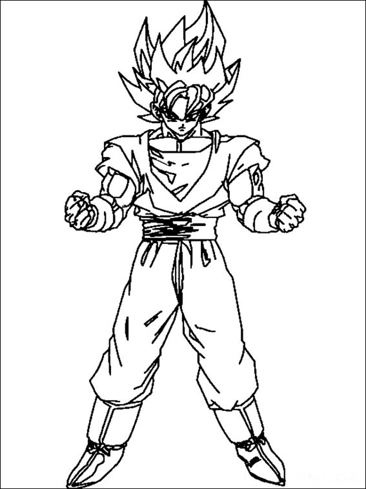 Dragon Ball Z coloring pages. Download and print Dragon ...