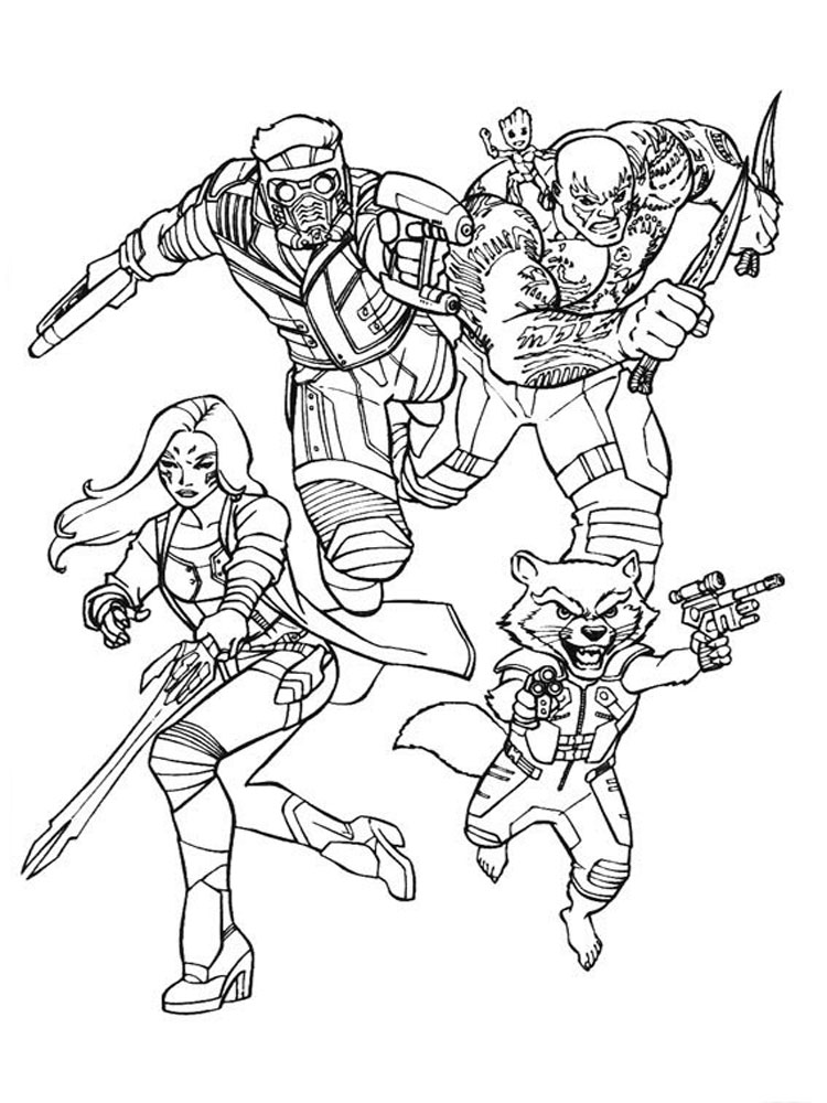 Free Guardians of the Galaxy coloring pages. Download and ...