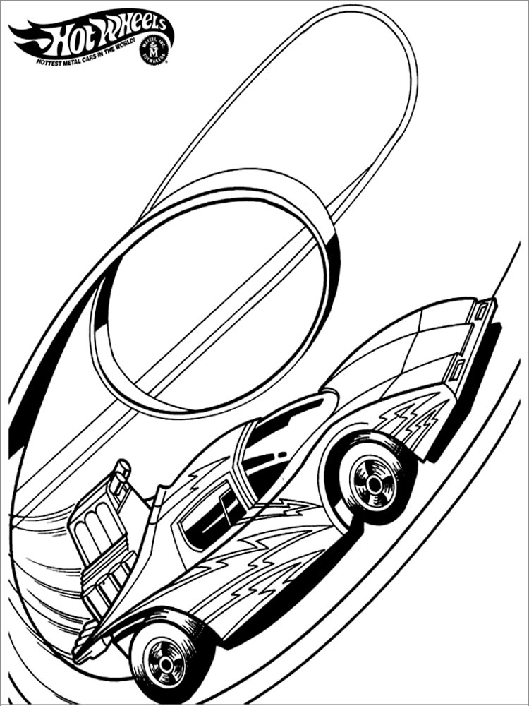 Hot wheels coloring pages download and print hot wheels for Wheel coloring page