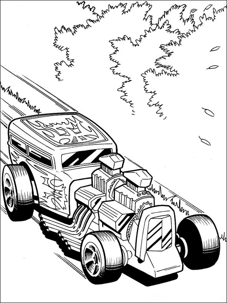 Hot Wheels coloring pages. Download and print Hot Wheels coloring pages