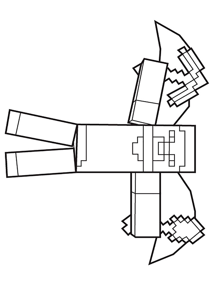 Free Minecraft Steve Coloring Pages. Download And Print Minecraft Steve Coloring  Pages