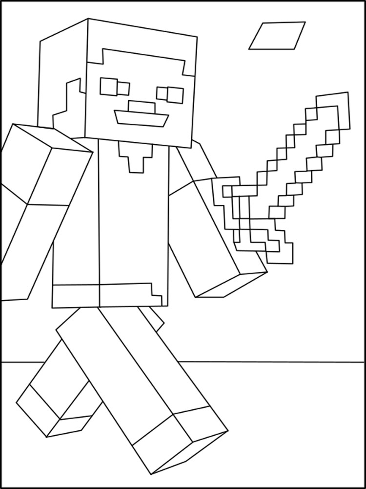 Free Minecraft Steve Coloring Pages Download And Print