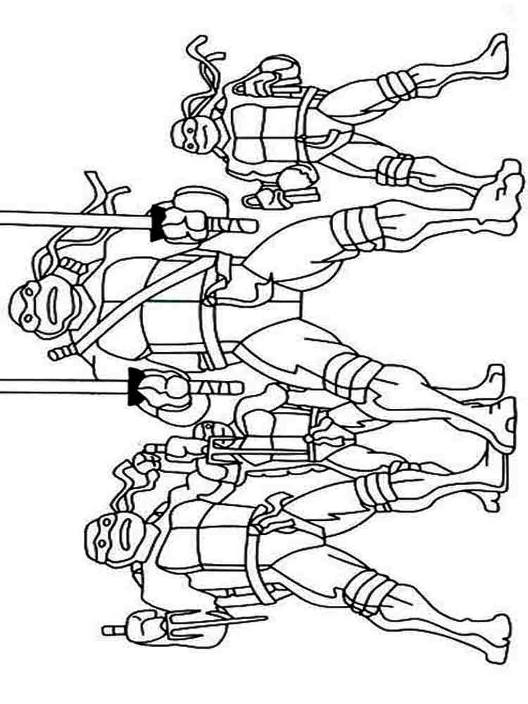 zombie ninja turtle coloring pages - photo#45