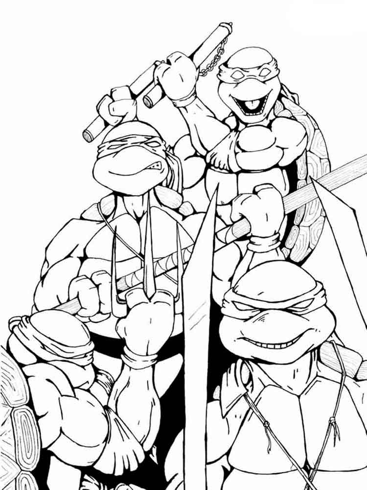 zombie ninja turtle coloring pages - photo#20