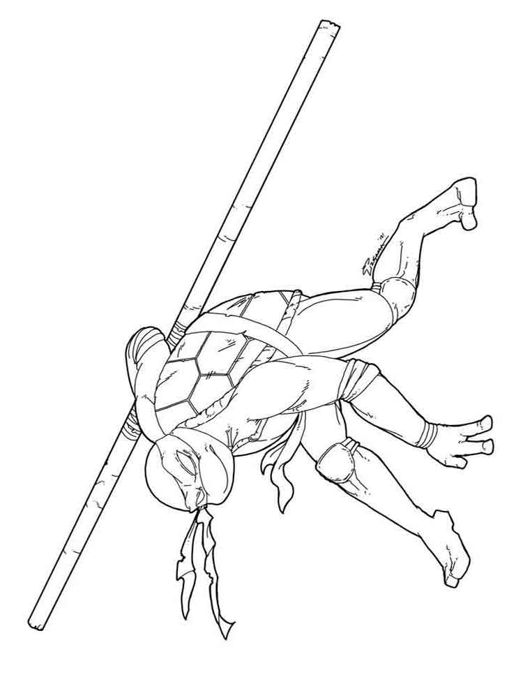 zombie ninja turtle coloring pages - photo#49