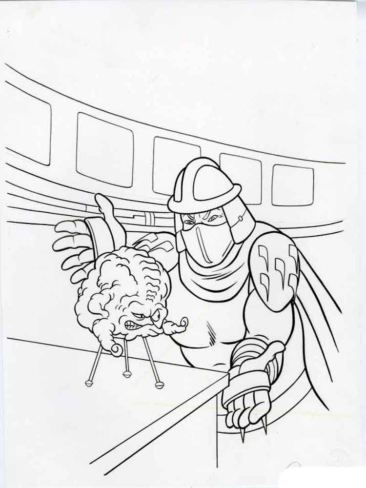 Mutant Ninja Turtles Coloring Pages Download And Print