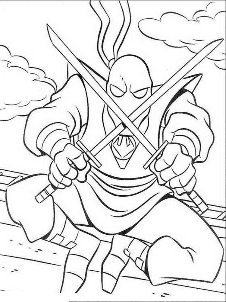 Mutant ninja turtles coloring pages download and print for Coloring pages of ninjas