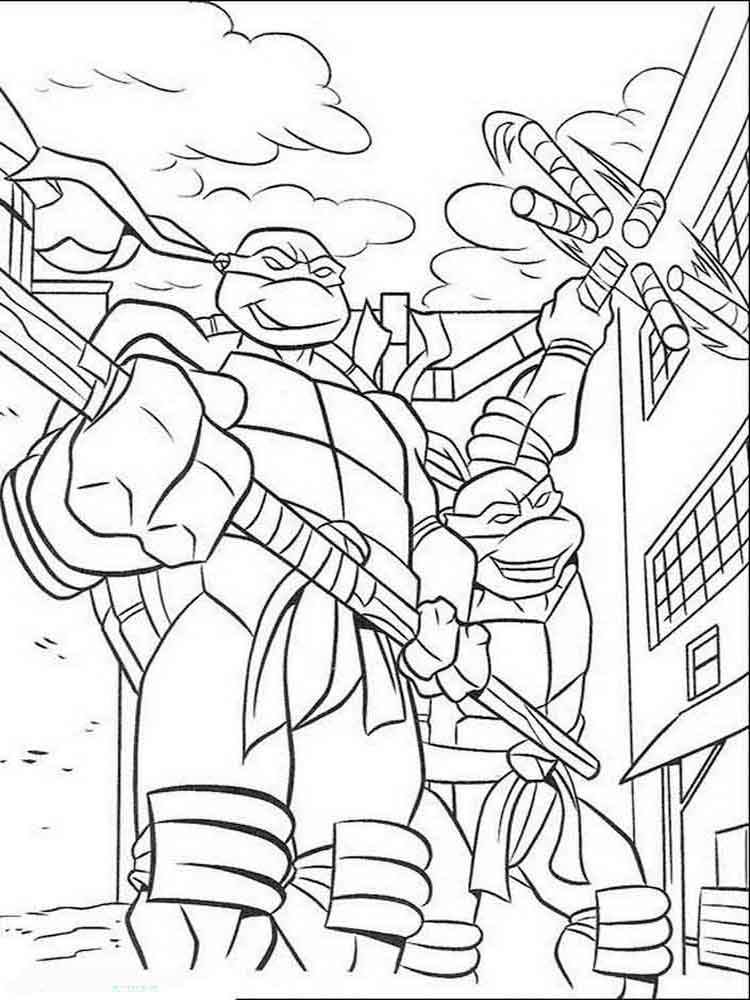 zombie ninja turtle coloring pages - photo#23