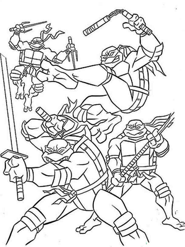 Mutant Ninja Turtles coloring pages. Download and print ...