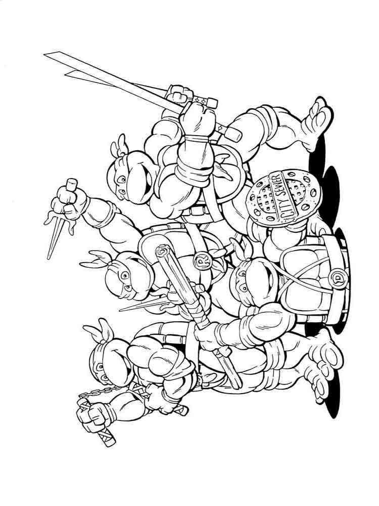 Nick teenage mutant ninja turtles coloring pages
