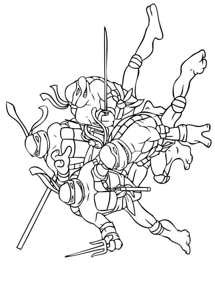 coloring pages turtles ninja songs - photo#2