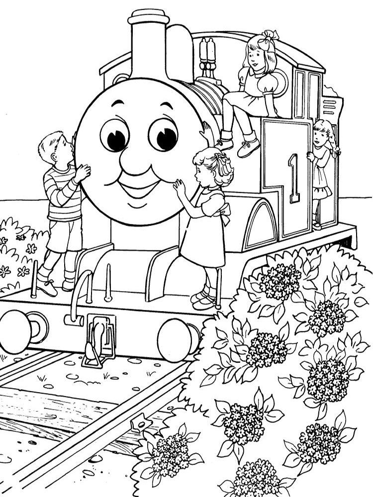 thomas color page - thomas and friends coloring pages download and print