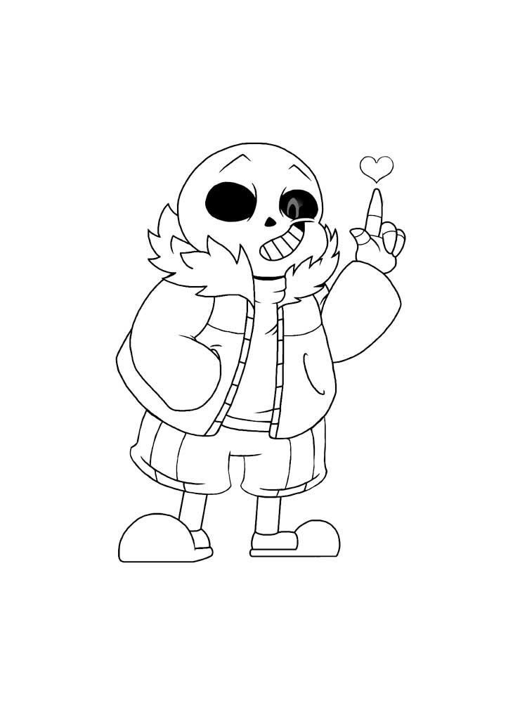 Free Undertale Coloring Pages. Download And Print Undertale Coloring Pages