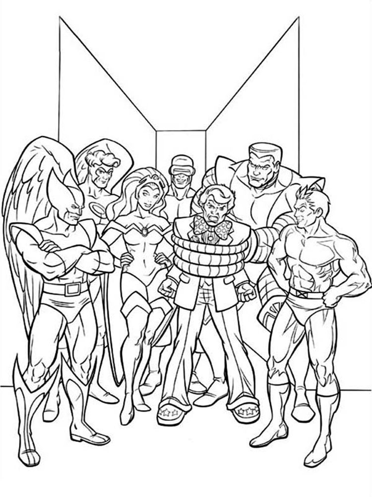 X men coloring pages Download and print X men coloring pages