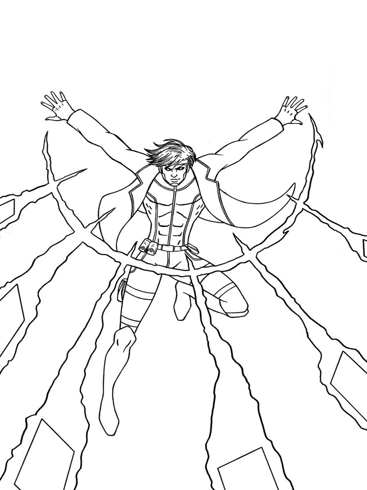 Printable coloring pages for guys ~ X-men coloring pages. Download and print X-men coloring pages