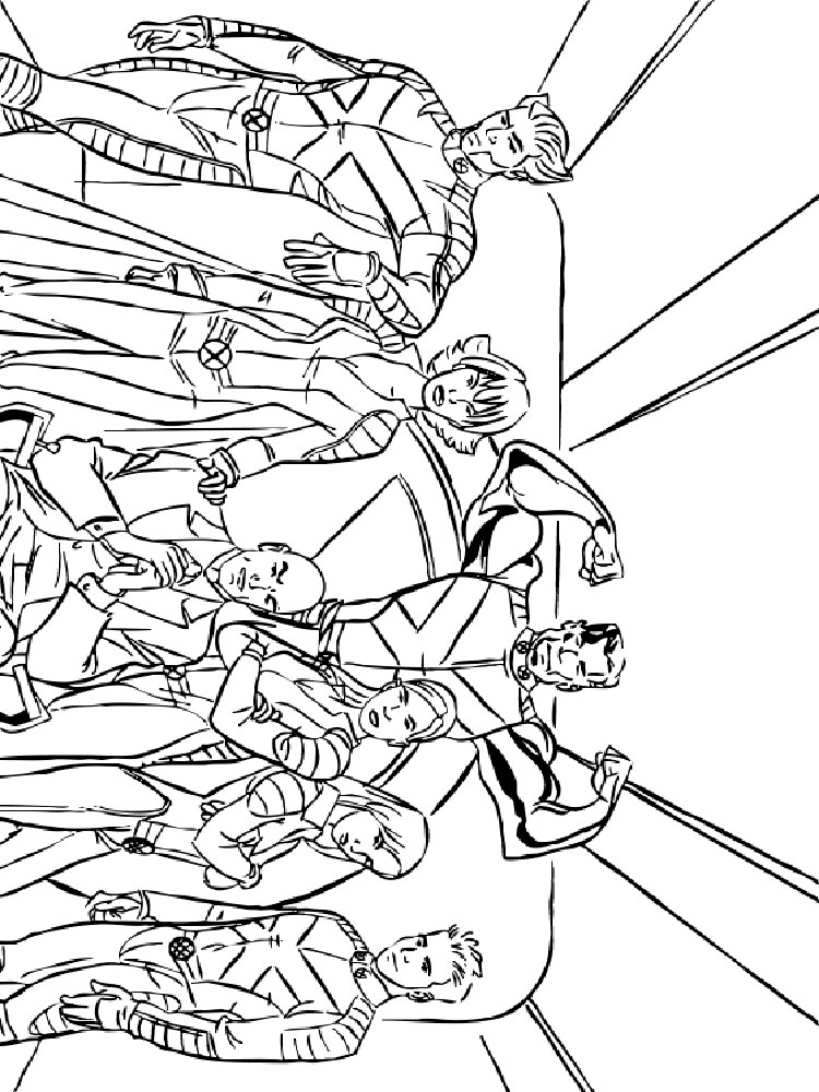 Printable coloring pages for guys ~ Angel X Men Colouring Pages Sketch Coloring Page