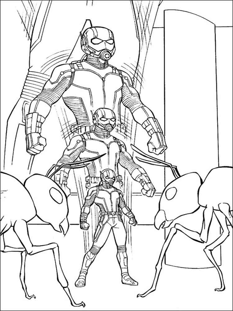 Ant Man Coloring Pages For Boys 10