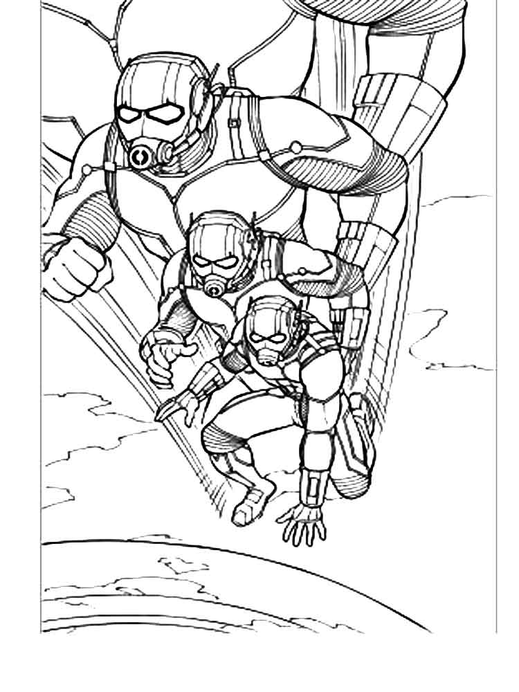 Ant Man Coloring Pages. Free Printable Ant Man Coloring Pages