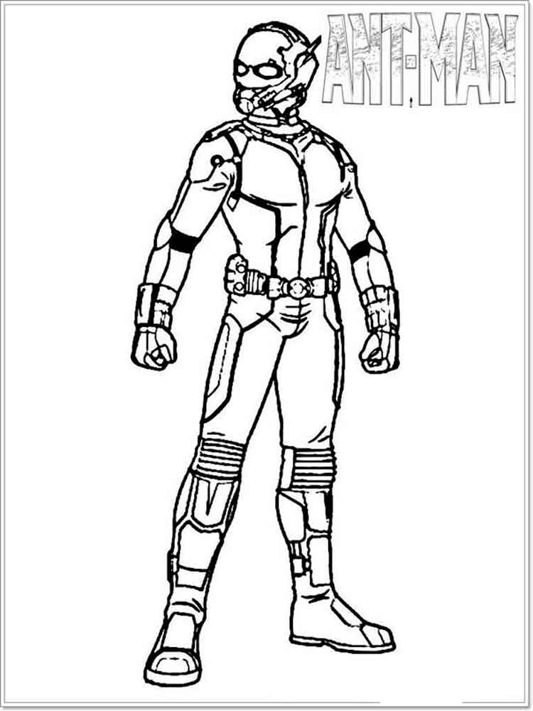 Ant Man coloring pages Free Printable