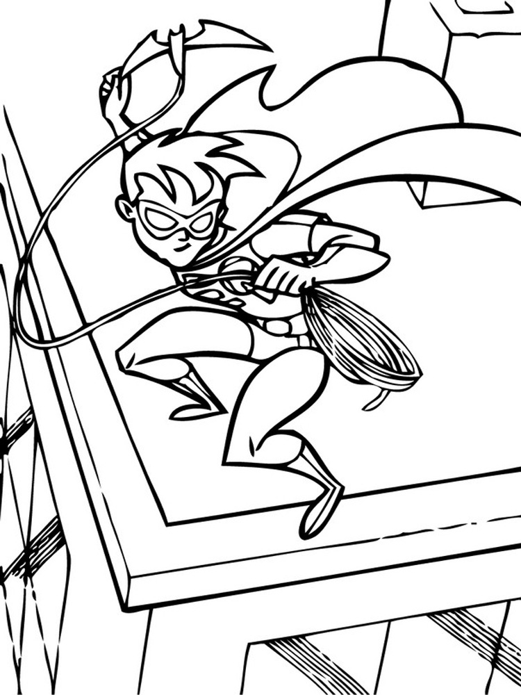 Batman And Robin Coloring Pages Free Printable Batman And